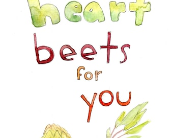 My Heart Beets For You (greeting card)