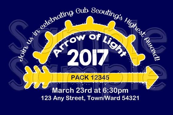 Arrow of Light 106 Personalized Printable Invitation