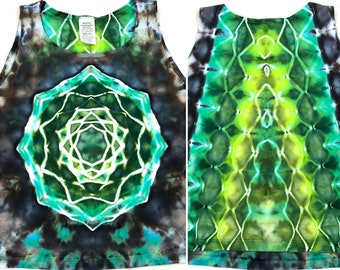 Small Tie Dye Earth & Water Mandala Crop Top