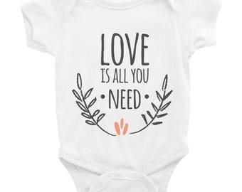 Love is all you need onesie