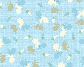 Hunny Bunny - 8404-05 Baby Bunnies Blue - by Kanvas Studios in Association with Benartex