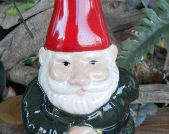 Garden Gnome Hand Painted in Glazes