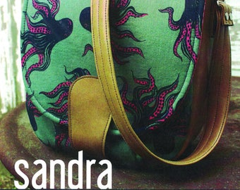 Swoon Sewing Pattern,Sandra Saddle Bag Pattern, Uncut and Complete,New,Circa 2015,70's Inspired,Vinyl or Woven Fabrics,Debbie Sews Retro