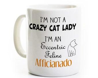 Cadeau de Crazy Cat Lady - Cat Lover - personne animal félin cadeau - une tasse de café tasse à thé