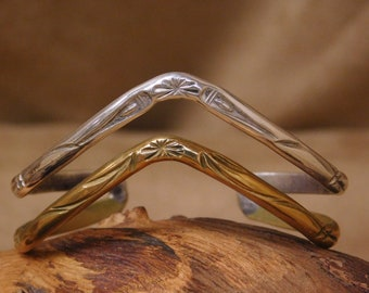 Sterling Silver and Brass Cuff Bracet