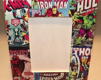 Marvel Comics Wood Picture Frame - Iron Man 126 Hulk Amazing Spider Man 50 X-Men FREE SHIPPING