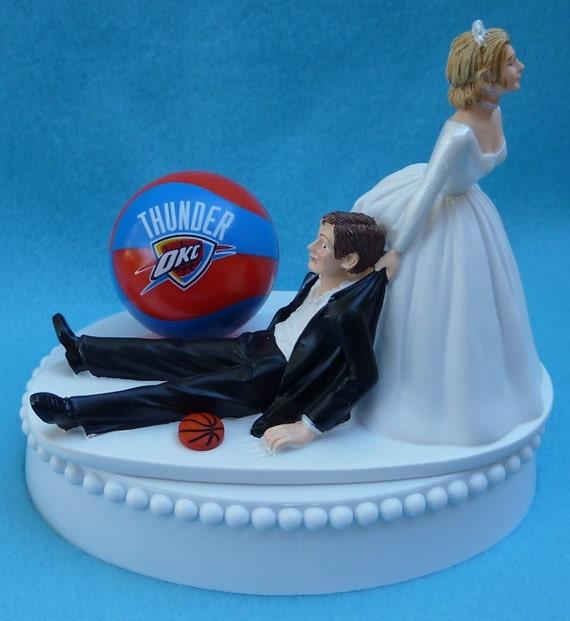 Wedding Cake Topper Oklahoma City Thunder OKC Basketball - Wedding Cake Toppers Okc