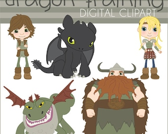 Train your dragon etsy train your dragon clipart set personal and limited commercial toothless hiccup astrid ccuart Image collections