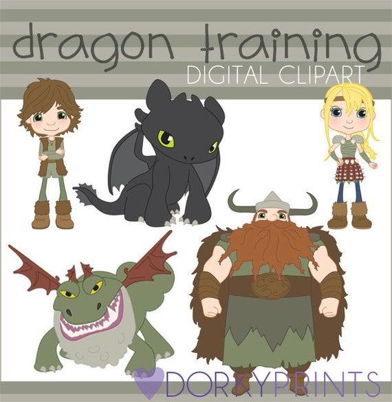 Train your dragon clipart set personal and limited commercial train your dragon clipart set personal and limited commercial toothless hiccup astrid stoick grockle clip art from dorkyprints on etsy studio ccuart Choice Image