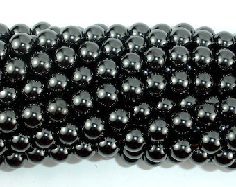 Magnetic Hematite Beads, 8mm(8.4mm) Round Beads, 16 Inch, Full strand, Approx 50 beads, Hole 1 mm, A quality (269054008)