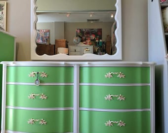 Vintage Dresser with Scalloped Top