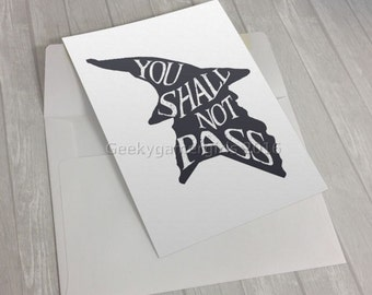 Gandalf notecard | 5x7 Greeting Card | LOTR Greeting card