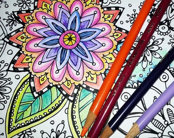 KPM Doodles Coloring Page Secret Garden 2