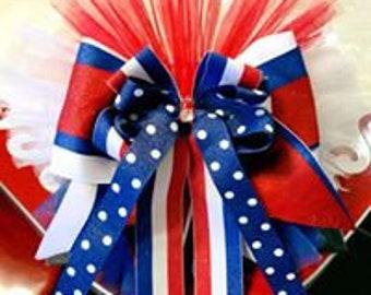 Homecoming/ Patriotic Bow