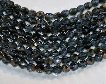 Firepolished Bead 6mm - Twilight - Montana Blue
