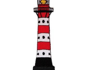 Embroidered Iron On Lighthouse Patch Sew On Badge Clothes Embroidery Applique