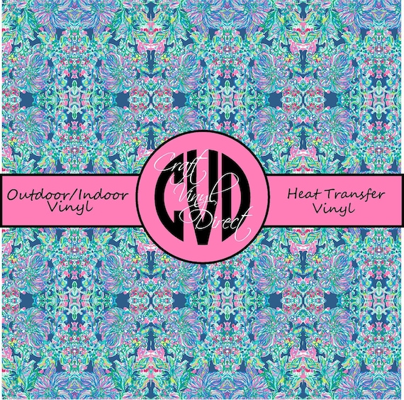 Beautiful Patterned Vinyl // Patterned / Printed Vinyl // Outdoor and Heat Transfer Vinyl // Pattern 675