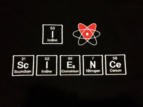 I heart science in periodic table embroidered urtaz Image collections
