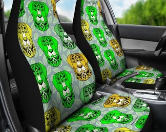 Fancy Pants Dog Pair Of Micro Fiber Car Seat Covers Green