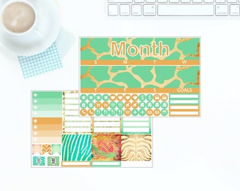 Erin Condren Vertical Monthly Kit - Down in Africa - Any Month! *NEW PREMIUM PAPER!*