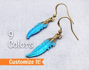 Turquoise earring, Bohemian earrings, teen girl, gift for wife, boho jewelry, mothers day personalized gift for her, inspirational gift