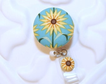 Sunflower Retractable Id Badge Reel - RN Badge Reel - Teacher Id Reel - Id Badge Holder - Nurse Badge Reel