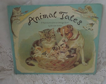Vintage Pop-Up Book Animal Tales Victorian Edwardian Illustrations Darling!