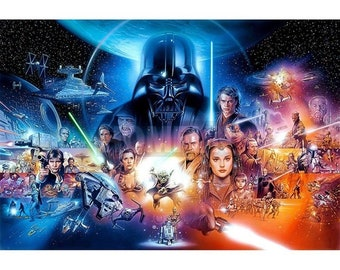 Star Wars characters 5D DIY diamond picture 40 x 30cm