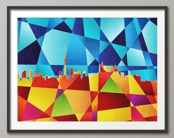 Toronto Canada City Abstract Skyline, Art Print (521)