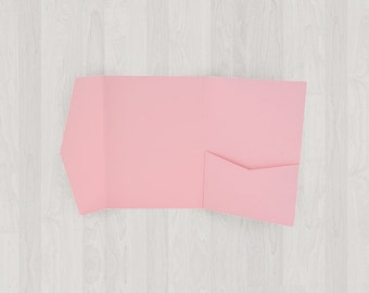 10 Mini Pocket Enclosures - Pink - DIY Invitations - Invitation Enclosures for Weddings and Other Events
