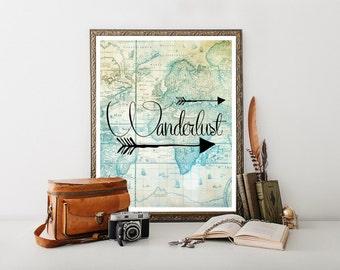 Wanderlust, Travel Poster, Travel Printable,Travel Quote, Travel Decor, Travel Download, Travel Print, Travel Digital Download 0234