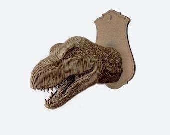 cardboard T-Rex trophy head