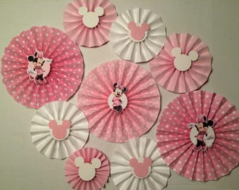 Rosettes mickey or minnie mouse- set of 9