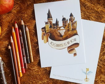A6 - Harry Potter Hogwarts is my home - card