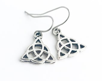 Celtic Knot Earrings / Silver Celtic Symbol Earrings