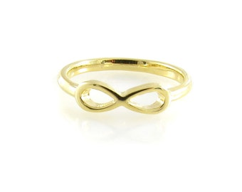 SIZE 6 Gold Infinity Ring- Birdhouse Jewelry