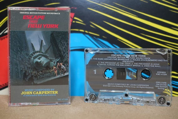 Escape From New York (Original Motion Picture Soundtrack) by John Carpenter & Alan Howarth Vintage Cassette Tape