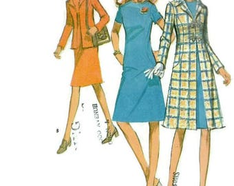 McCall's 2726 Sewing Pattern Retro 1960s Sheath Dress Blazer Jacket Evening Coat Size 10 Bust 32