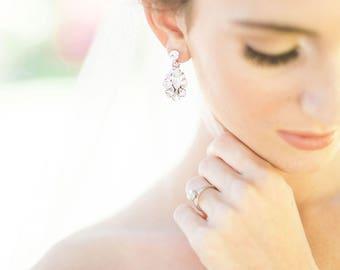 Petite Crystal Drop Earrings, Wedding Earrings, Bridal Earrings, Bridal Earrings Gold, Bridal Earrings, Crystal Earrings, Drop Earrings