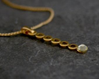 Gold Dainty Necklace, Minimalist Necklace, Tiny Gold Pendant Necklace, Simple Gold necklace, Gold Wedding Necklace ,Bridesmaids Jewelry