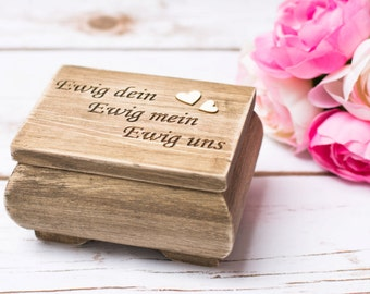 Wedding Ring Box Vintage Wedding Ring Holder Moss Rustic Ring Box Personalized Ring Bearer Box