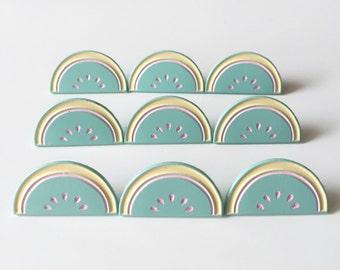 SALE / Pastel Watermelon enamel pin / mint enamel pin / girl gang / cute pastel pin / soft enamel pin / watermelon badge
