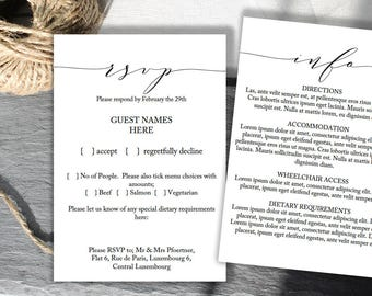 wedding guest information card template east keywesthideaways co