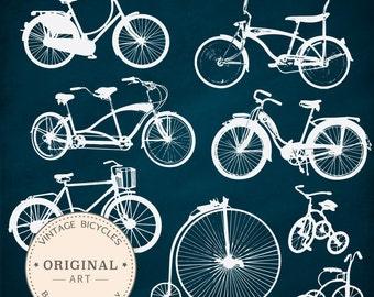 Vintage Bicycle Silhouette Clip Art - 16 images included! Bicycle Clipart, Bicycle Bike Clip Art, Bicycles Clipart, Bicycle Vectors,