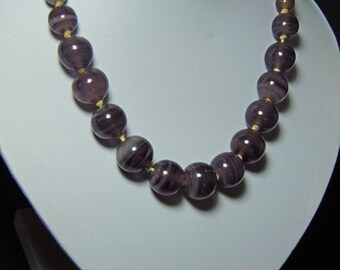 """Vintage Glass Beaded Necklace Signed """"Monet"""" (2919)"""