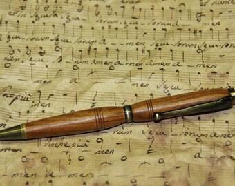 Pen 'rosewood santos' and brass