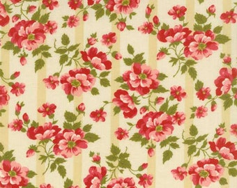 SALE - Avoncliff - Cream Floral Stripe from RJR