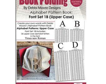 Debbi Moore Book Folding Pattern Book Alphabet Font Set 1B (Upper Case)