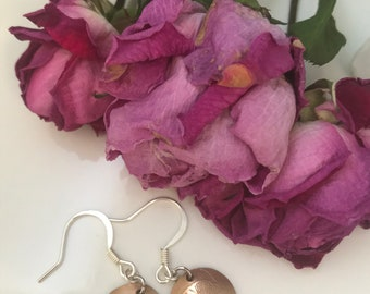 Etched Bronze Gingko Leaf Earrings