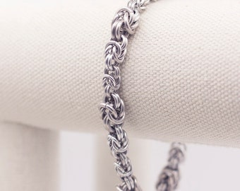 Aluminum Byzantine Chainmail Bracelet